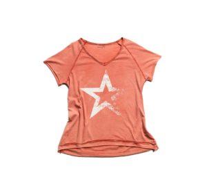 camiseta STAR coral manga corta