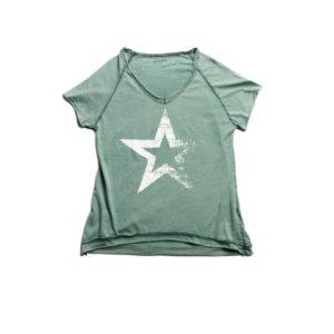 Camiseta STAR AGUAMARINA maga corta