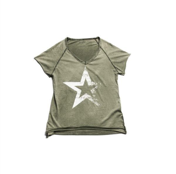 Camiseta STAR CAKI manga corta