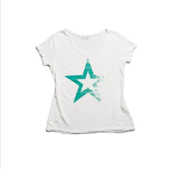 Camiseta STAR TURQUESA manga corta